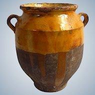 French Antique Pottery Jar Pot for Preserving Confit