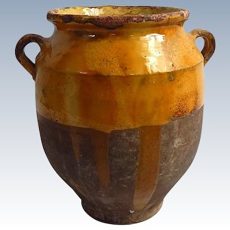 French Antique Pottery Jar Pot for Preserving Confit