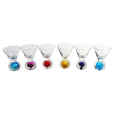 6 Murano Shot Glasses Hand Blown