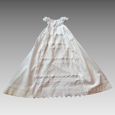 Ayrshire Christening Gown Handmade and Hand Embroidered Heirloom Quality