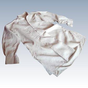 Vintage French Gentleman's Nightshirt in Linen