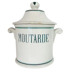 French Mustard Crock in Large Size