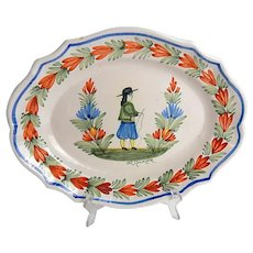 French Quimper Platter
