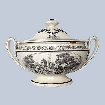 Fine French Antique Transferware Tureen by P & H Choisy c.1830