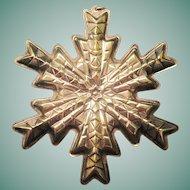 Vintage Gorham Sterling 1978 Christmas Snowflake