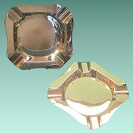 Vintage Pair Of English Sterling Ashtrays