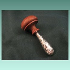 Vintage Sterling And Wood Darning Mushroom