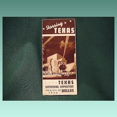 Vintage Texas Centennial Exposition 1936 Advertising Folder