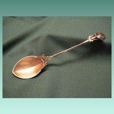 Antique Sterling Art Nouveau Calla Lily Serving Spoon