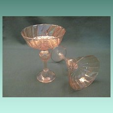 Vintage Murano Blown Glass Compotes, a pair.