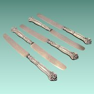 Vintage Wallace Sterling Carnation Pattern Table Knives