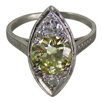 Edwardian Platinum 1.62 Carat Old European-cut Diamond Engagement Ring