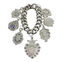 Vintage Sterling Silver Fob Bracelet
