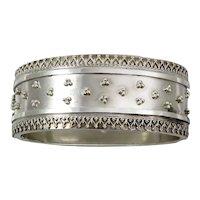 Victorian Sterling Silver Etruscan Revival Bracelet