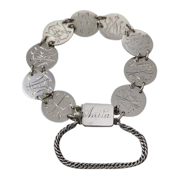 Victorian Love Token Bracelet With The Name Anita