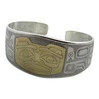 Vintage Kabana Sterling Pacific Coast Tribal Motif Bracelet