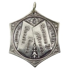 Antique Sterling Silver Latino Wedding Medal