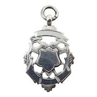 Art Deco Sterling Silver English Fob