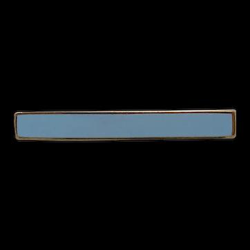 Edwardian 14K Rose Gold Blue Enamel Lingerie Handy Pin
