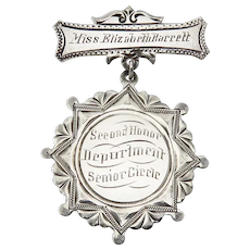 Sterling Silver 1907 Mount de Sales Academy Of Visitation School Medal