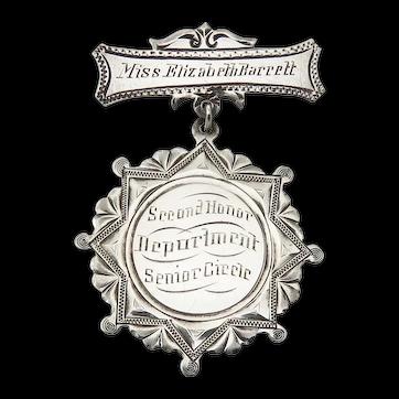Sterling Silver 1907 Mount de Sales Academy Of Visitation School Medal