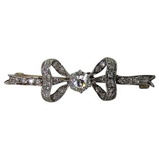 Belle Epoque Diamond Bow Brooch