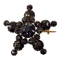 Late 19th Century 18K French Paste Star Brooch