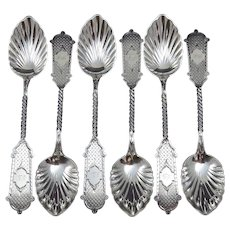Fabulous Set of Coin Silver Fruit Spoons