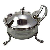 Vintage Sterling Silver Mustard Pot