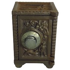 Vintage Cast Iron And Tin Safe Still Bank
