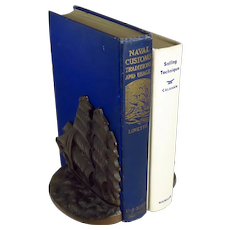 Vintage Bronze Clipper Ship Flying Cloud Bookends