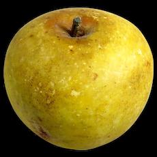 Vintage Italian Painted Alabaster Apple