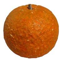 Vintage Italian Painted Alabaster Orange