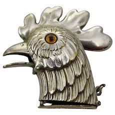 Edwardian Rooster Head Vesta Case