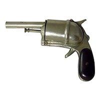 Edwardian Revolver Shape Vesta Case