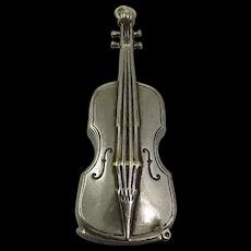 Edwardian Violin Shape Vesta Case