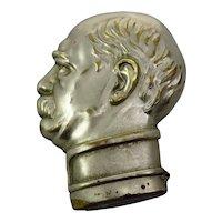 Edwardian Gentleman's Head Vesta Case