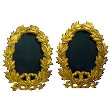 Pair of Edwardian Gilt Brass Frames