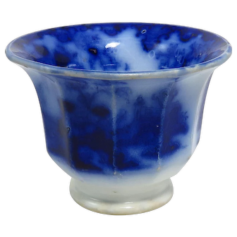 """Scinde"" Pattern Flow Blue Handless Cup"