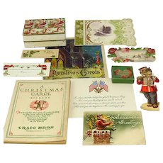 Collection Of Vintage Christmas Ephemera