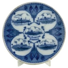 Souvenir Plate For The Fall River Steamship Line