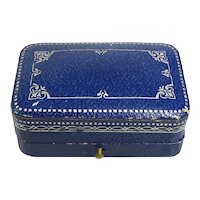 Retro Blue Double Ring Box From F. B. McKinley Jewelers