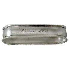 Retro Sterling Silver Watrous Napkin Ring Kenneth
