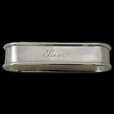 Retro Gorham Sterling Silver Napkin Ring Sam