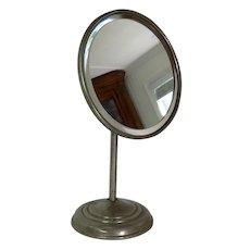 Vintage Round Adjustable Shaving Mirror