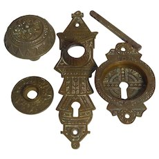 Victorian Eastlake Four Piece Door Hardware