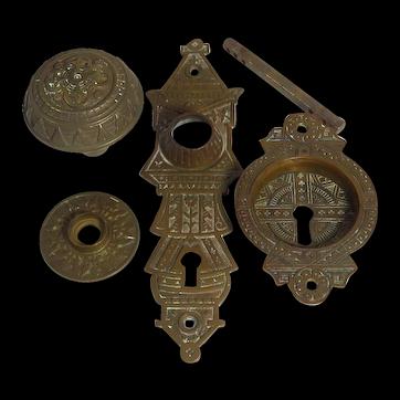 Victorian Eastlake Four Piece Door Hardware