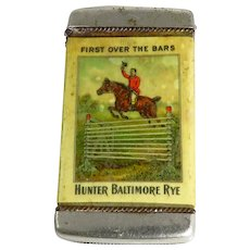Vintage Hunter Baltimore Rye Advertising Vesta Case