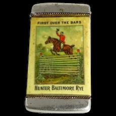 Vintage Hunter Baltimore Rye Advertising Vesta Case