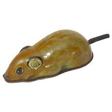 Vintage Tin Litho Mouse Friction Toy